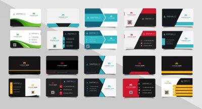 Fototapete Set of corporate business card bundle.