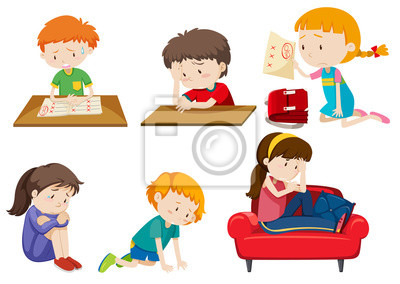 Set of depressed children