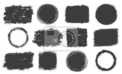 Fototapete Set of grunge frames
