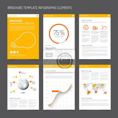 Modern Brochure Design   Set Of Modern Brochure Flyer Design Templates Fototapete