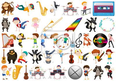 Set of music element