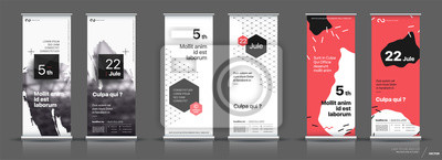 Fototapete Set of templates with a design of vertical banners.