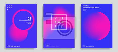 Fototapete Set of trendy abstract design template