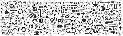 Fototapete Set of vector arrows