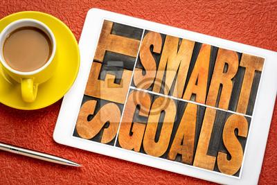 set smart goals word abstract
