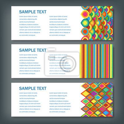 Set von banner-vorlagen. geometrische formen abstrakt. fototapete ...