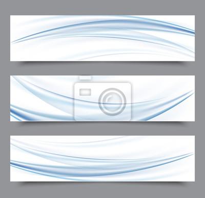 Set von banner-vorlagen. moderne abstrakte design.blue transparente ...