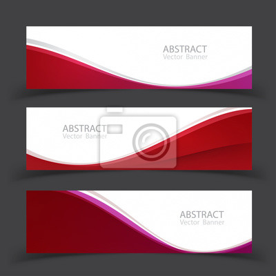 Fototapete Set von Banner-Vorlagen. Modernes abstraktes Vektor-Illustrationsdesign.