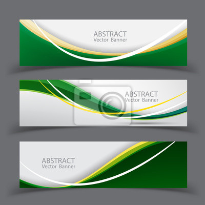 Set von Banner-Vorlagen. Modernes abstraktes Vektor-Illustrationsdesign.