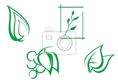 Set von Blättern Symbole