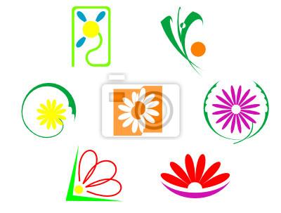 Set von Blumen Symbole