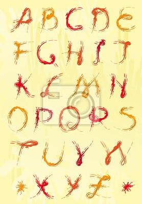 Set von bunten Buchstaben