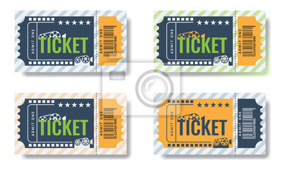 Set von cinema ticket vorlagen. trendiges design vektor. fototapete ...