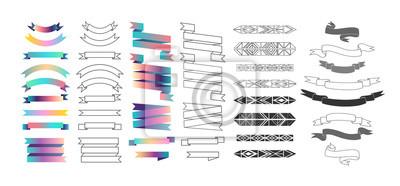 Set von Etiketten, Bändern und Design-Elemente. Vektor. Isoliert.