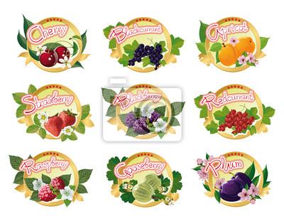 Set von Etiketten für Marmelade