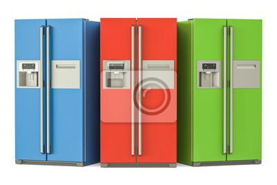 Side By Side Kühlschrank Farbig : Set von farbigen kühlschränken mit side by side tür system d
