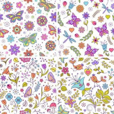 Fototapete Set von floralen Hintergründen.
