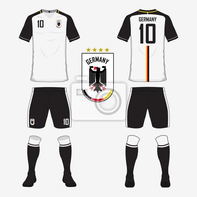sale retailer 069c3 32d76 Fototapete: Set von fußball trikots oder fußball-kit-vorlage für deutschland