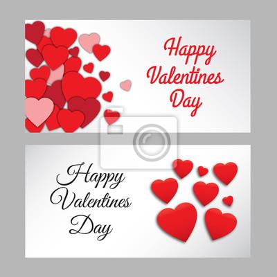 Set von glücklichen valentinstag abstrakten romantischen hintergrund ...