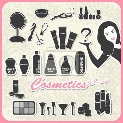 Set von Kosmetika