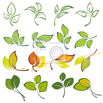 Set von Logos von Multi-farbigen Blätter