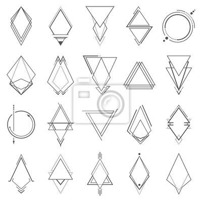 Fototapete Set von minimalistischen geometrischen Elementen