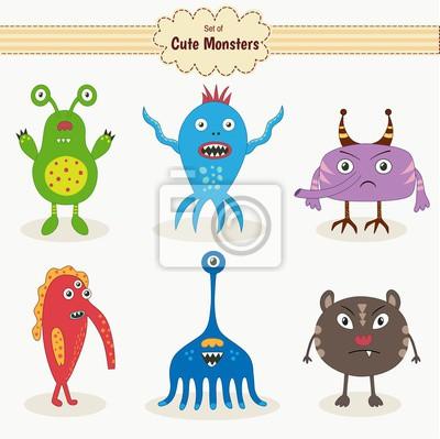 Set von niedlichen Monster. Abbildung
