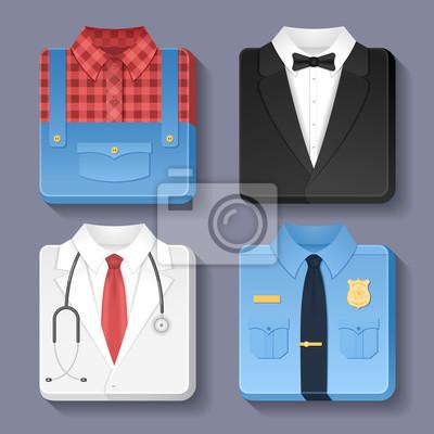 Set von professionellen einheitliche Symbole