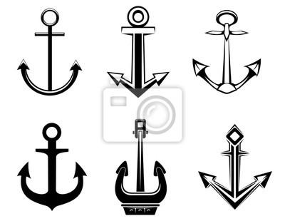 Set von Symbolen Anker