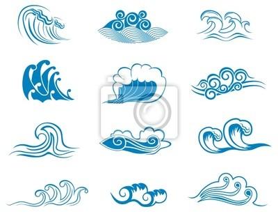 Set von Welle Symbole