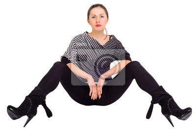 Fototapete Sexy Mädchen Posiert Mit Gespreizten Beinen
