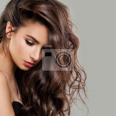 Fototapete Sexy Schone Frau Mode Modell Mit Perfekten Frisur Und Make Up