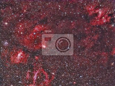 Sh2-255 Höhlen-Nebelfleck abgebildet mit einem Teleskop und einer wissenschaftlichen CCD-Kamera