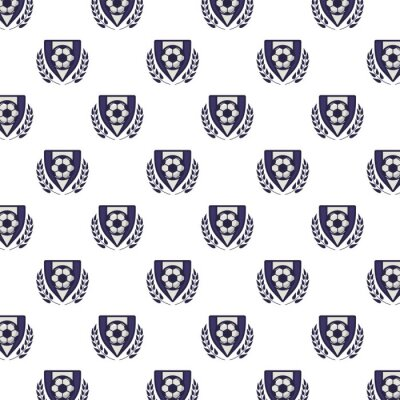 shields with soccer sport balloons pattern