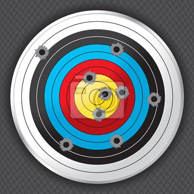 Shooting Range-Gewehr-Ziel mit Einschusslöchern