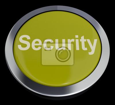 Fototapete Sicherheit Knopf Anzeigen Datenschutz Verschlüsselung und Sicherheit