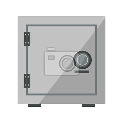 Fototapete Sicherheitskonzept Mit Metall Geschlossenen Kasten Bank Safe