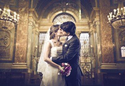 Fototapete Sie dürfen die Braut jetzt küssen