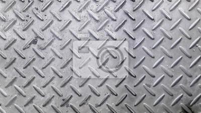 Silber Farbe Anti Rutsch Metall Boden Muster Und Textur Hintergrund