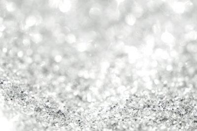 Fototapete Silber Hintergrund der defokussiert abstrakte Lichter. Goldene Bokeh Lichter.