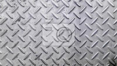 Silberne Farbe Anti Rutsch Metall Boden Muster Und Textur