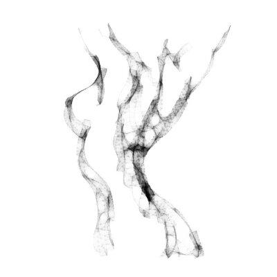 Fototapete Silhouette der schönen nackten Frau Vektor-Illustration