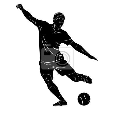 Silhouette Fussballspieler Fototapete Fototapeten Quaken