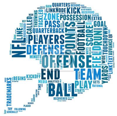 Silhouette Helm Fussball American Football Silhouette Wordart