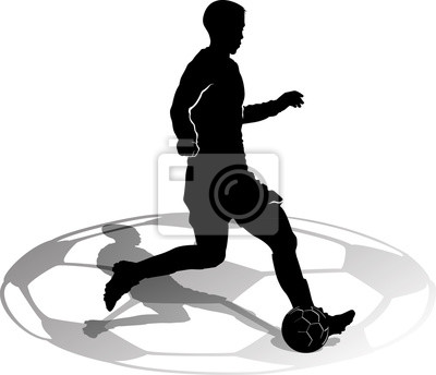 Silhouette Male Soccer Player