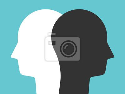 Fototapete silhouette of a head