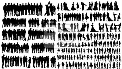 Fototapete silhouette people, collection