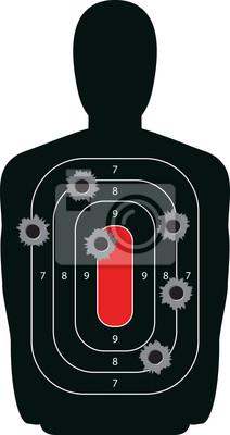Silhouette Shooting Range-Gewehr-Ziel mit Einschusslöchern