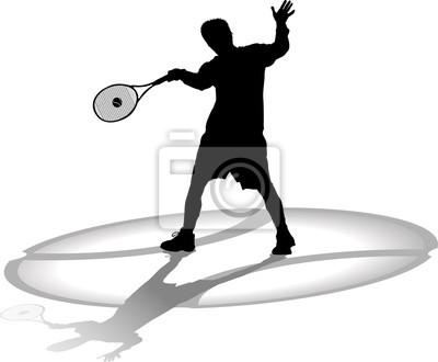 Silhouette Tennisspieler