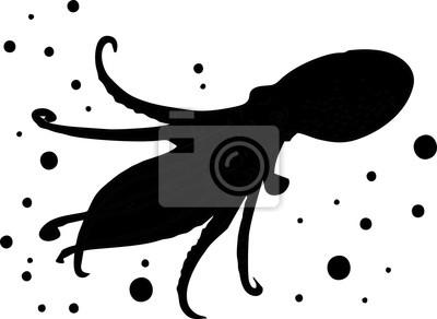 Silhouette - Tintenfisch